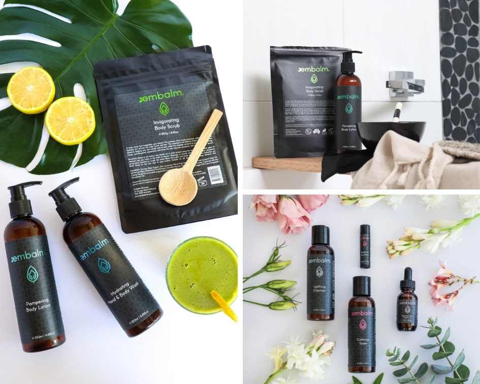 Embalm skincare pamper party products