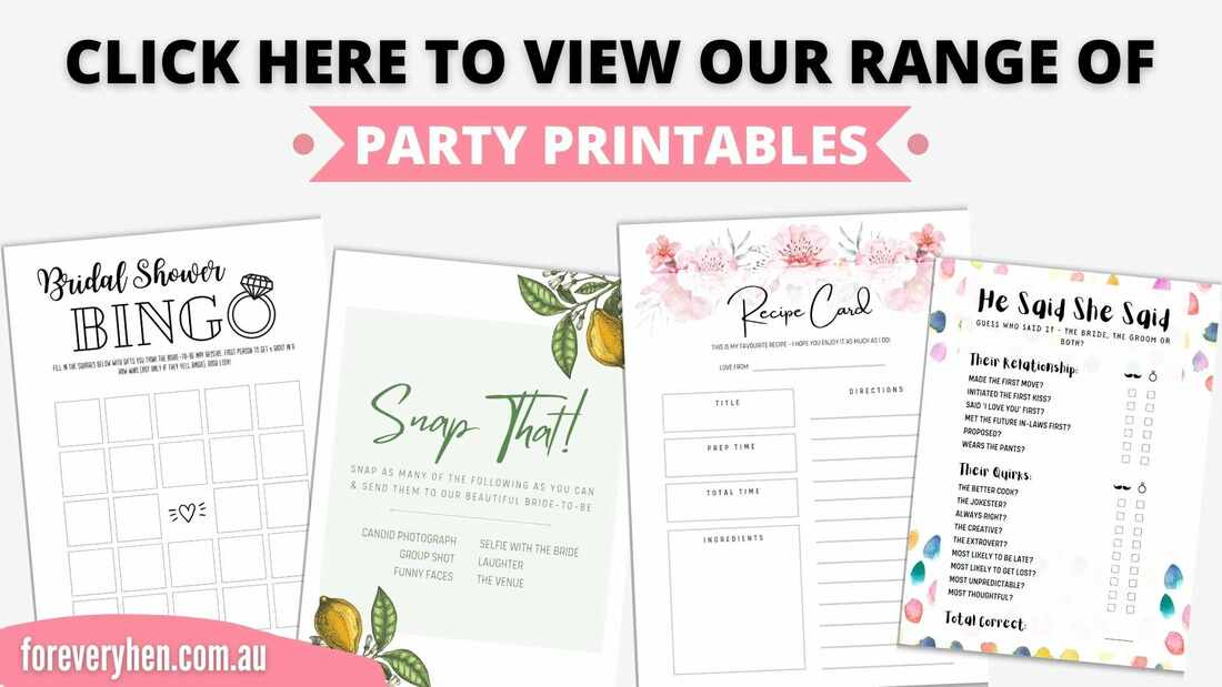 Hen Party Fashion Printables