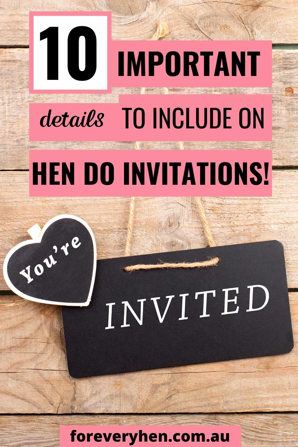 Hens Party Invitations